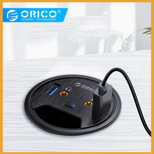 ORICO Desktop Grommet USB 3.0 HUB With Headphone Microphone Port Type C HUB OTG Adapter Splitter For Laptop Accessories
