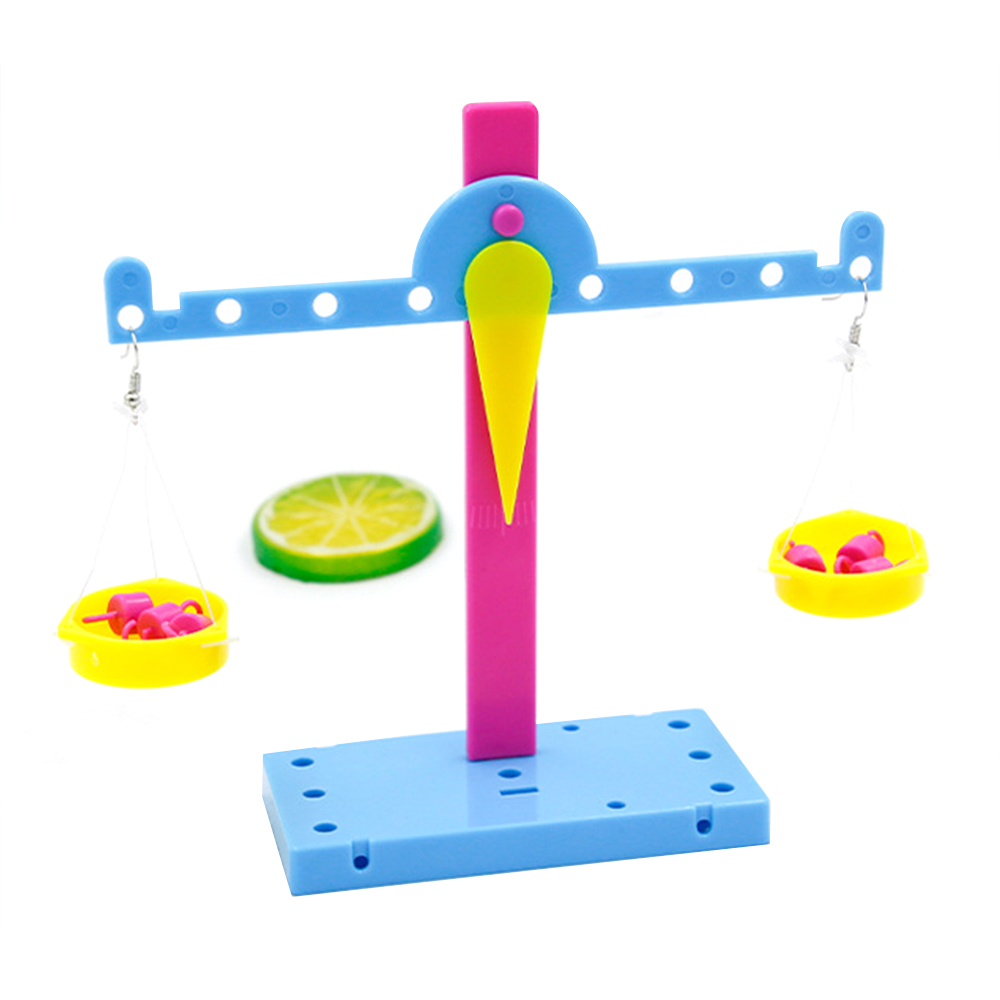 Kids Funny DIY Plastic Educational Lever Principle Balance Scale Toys Experiments Material Physics Teaching For Kids Students