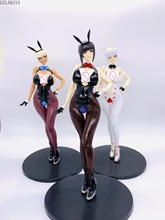 Anime 32cm Q Six Bunny Girls Izayoi Erika Soft body Sexy PVC Action Figure Collectible Model Toys Native T2 Art girl Tony Gift