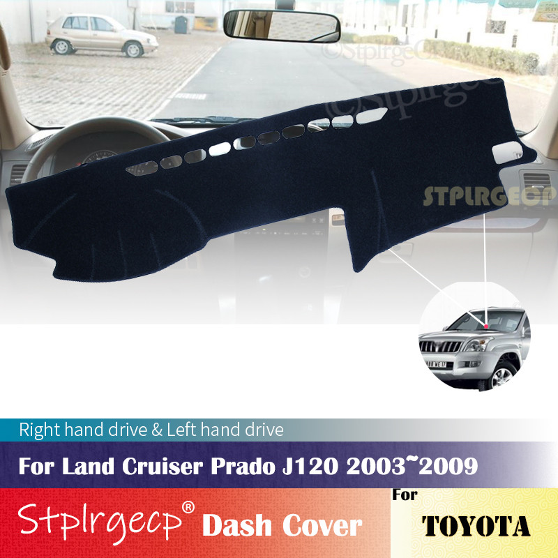 for Toyota Land Cruiser Prado 120 J120 2003 2009 Anti-Slip Dashboard Cover Protective Pad Car Accessories Sunshade Carpet