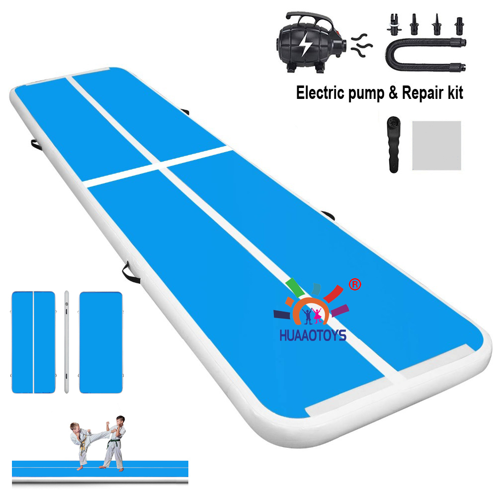 Inflatable Air track <font><b>mat</b></font> 6m 7m 8m lenght Inflatable <font><b>Gymnastics</b></font> Tumbling floor For <font><b>Kids</b></font> Adult with Free electronic blower image