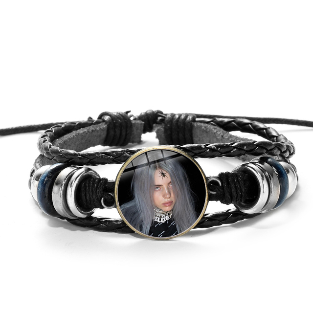 BILLIE EILISH PU LEATHER BRACELET (20 VARIAN)