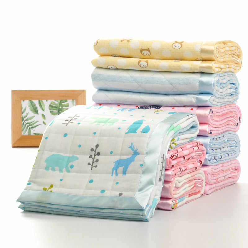 100% Cotton Muslin Baby Blanket For Newborn Swaddling Super Comfy Bedding Blankets Swaddle Wrap 100*75 CM
