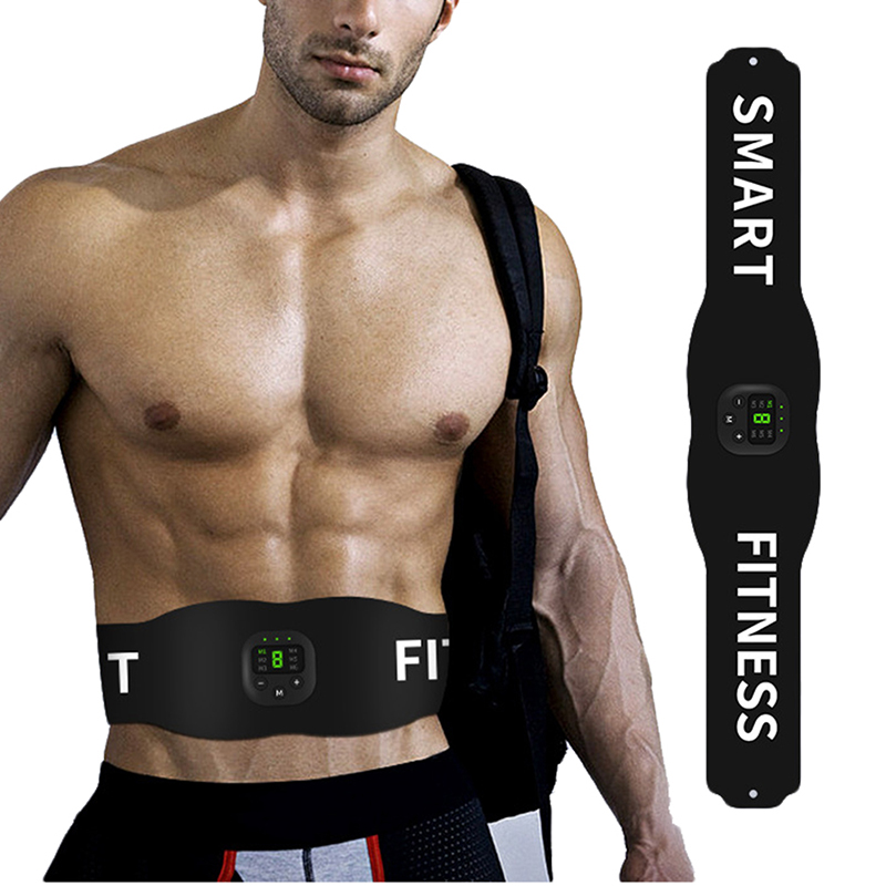 Wireless EMS Abdominal Sticker Muscle Stimulator Trainer Smart Fitness Abdominal Training Fat Burner Electric Weight Loss Belt