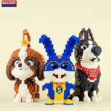 Balody animal de compagnie chien Daisy coq blanc boule de neige lapin et super lapin 3d modèle kits de construction Mirco briques blocs enfants jouet 1962P
