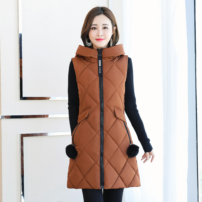 Photo Shoot Winter New Style Korean-style Slim Fit Sleeveless Down Jacket Cotton-padded Clothes Simple Versatile Fashion Vest
