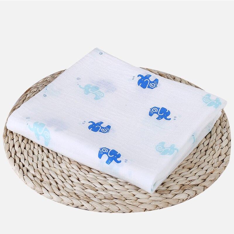 1 шт., муслин, хлопок, детские пеленки, мягкие одеяла для новорожденных, для ванной, марля, Детская накидка, спальный мешок, чехол для коляски, игровой коврик - Цвет: Elephant