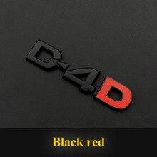цена на 3D Metal D4D Emblem Badge Sticker Decals For Toyota Land Cruiser Yaris Corolla RAV4 Camry EX CROWN PRADO REIZ car Accessories
