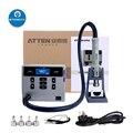 ATTEN интеллектуальный цифровой дисплей паяльная станция для PCB Чип пайки Ремонт 1000 Вт вихревой пистолет горячего воздуха паяльная станция