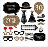 Rekwizyty fotograficzne dla dorosłych 30th urodziny tektury 30 lat uroczystości urodziny zdjęcie z imprezy rekwizyty rocznica