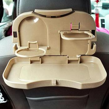 Fashion Durable Folding Travel Portable Plastic Food Drink Holder Tray Car Kit image