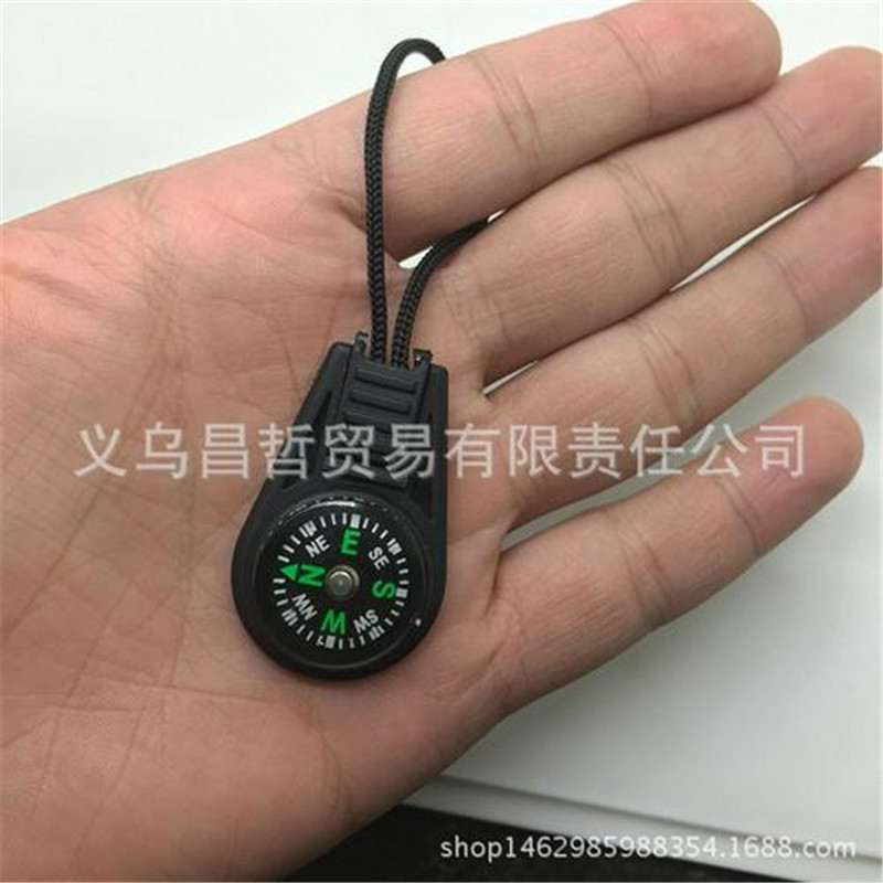 1pcs Wrist / Backpack Lanyard Type Convenient Small Travel For Compass Thermometer Climbing Camping Survival Equipment Compasses