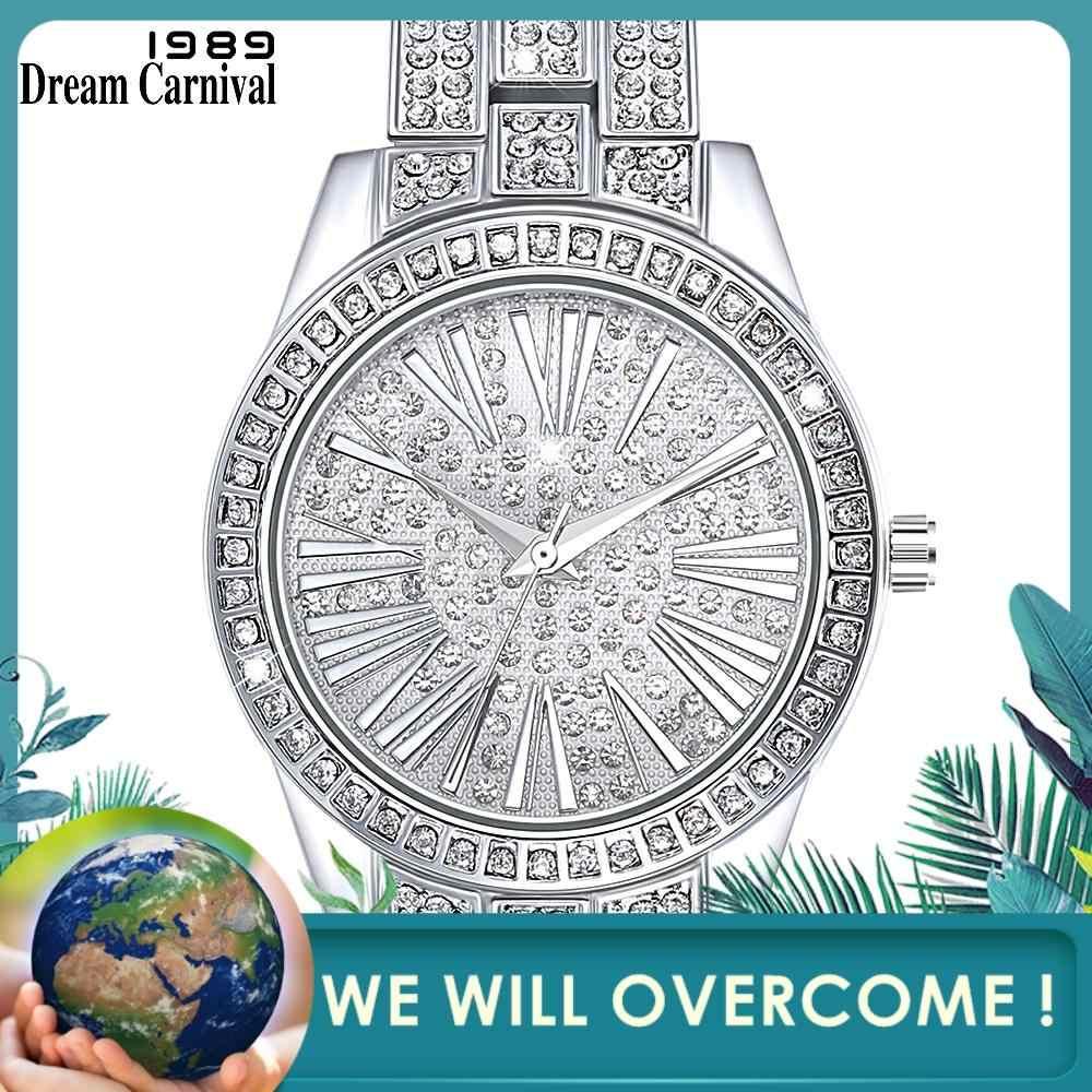Женские часы Dreamcarnival, роскошные багет-камни, подарок на Рождество, Новый Год, высокое качество, опт, Прямая поставка A8366