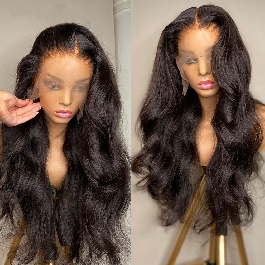 Lace Front Human Hair Wigs Body Wave Deep Closure Wig 28 Inch Remy Brazilian