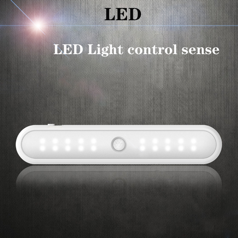 Wireless Smart Sense 20led Night Light Mini  Motion PIR Sensor Drawer Cupboard Staircase Wardrobe Light USB Powered Night Light