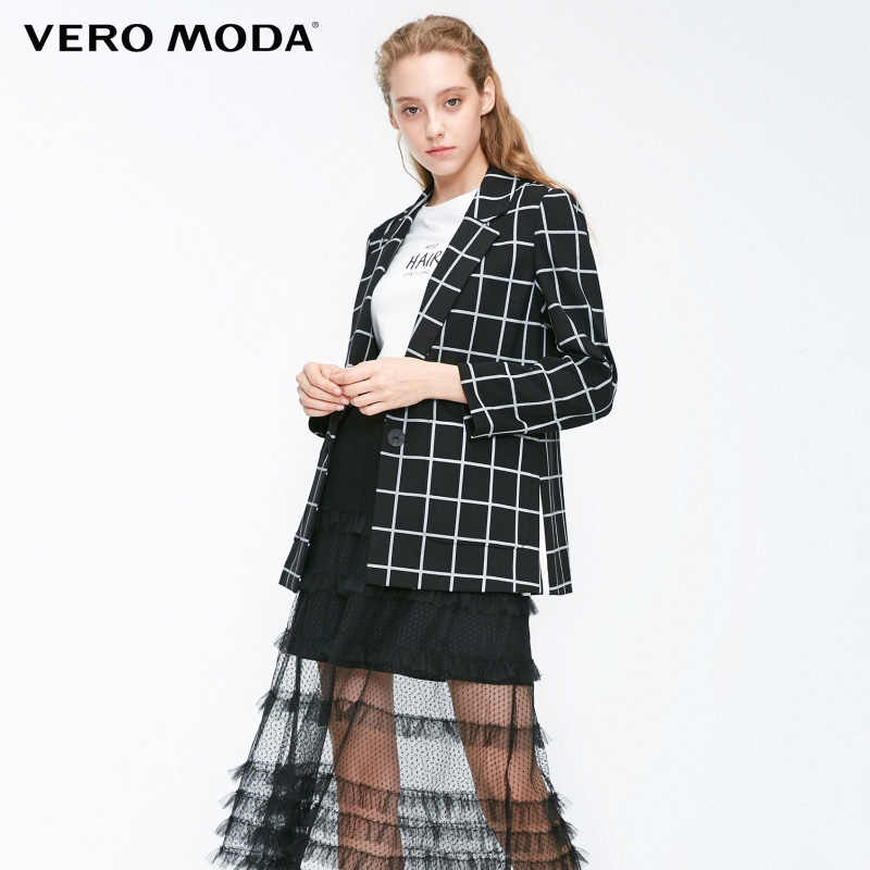 Vero Moda One-button Pockets Plaid Suit Jacket  blazer| 31841K504