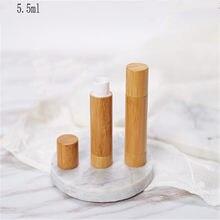 Nouveau conteneur vide en bambou de 5.5ml pour rouge à lèvres, Tubes pour baume à lèvres, bouteilles rechargeables