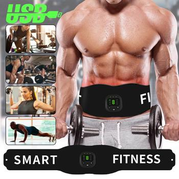Smart Wireless Muscle EMS Abdominal Trainer Fitness Training Electric Weight Loss Stickers Body Slimming Belt Unisex ems wireless muscle stimulator smart fitness abdominal training electric weight loss stickers body slimming belt unisex