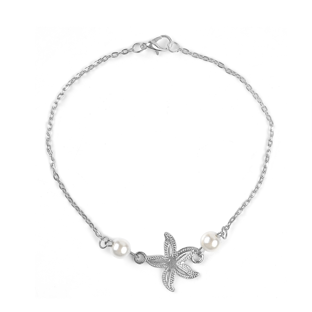 2020 Bohemian Sandals Foot Jewelry Charms Chain Ankle Bracelet Female gold starfish Anklets Bracelets for Women Barefoot 2
