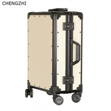 CHENGZHI 20 дюймов, 24 дюйма, высокое качество, Ретро стиль, чемодан на колёсиках, для женщин, для каюты, для путешествий, чехол, алюминиевая рама, чехол на колесиках