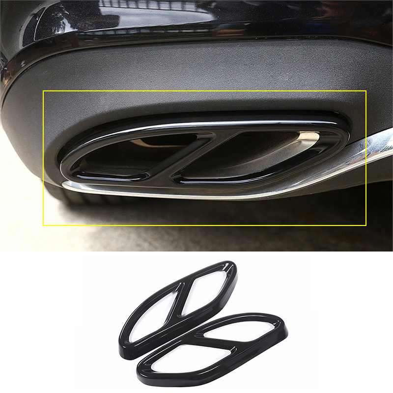2pcs Car Exhaust Muffler Trim Cover Stainless Steel For Mercedes Benz W213 2016 2019 W205 2015 2019 W176 2015 2017|Mufflers| |  - title=