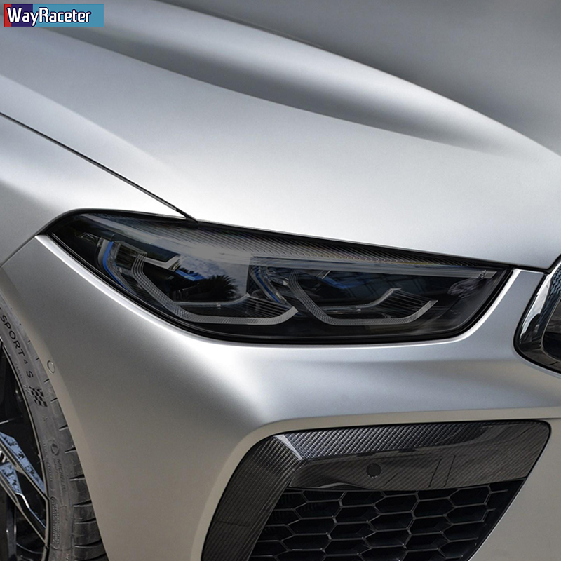 Защитная пленка для автомобильных фар, виниловая защита, Прозрачная черная наклейка из ТПУ для BMW M8, конкуренция, F93, F91, F92, аксессуары GTE