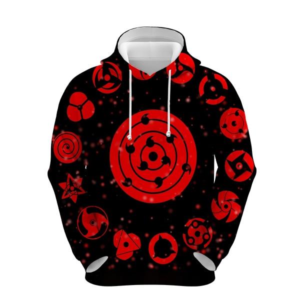 Купить naruto hoodies men women 3d sharingan sweatshirts boy jackets
