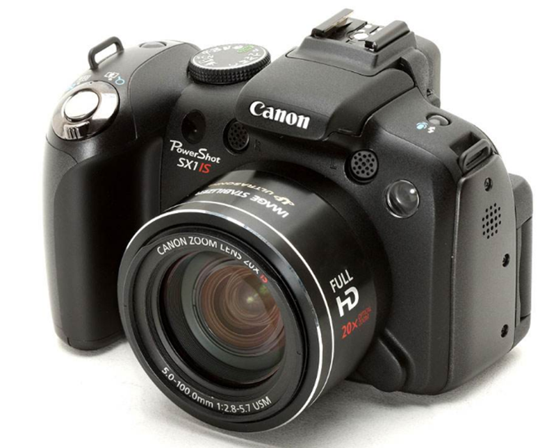 USED Canon PowerShot SX1IS 10 MP CMOS Digital Camera with 20x Wide Angle Optical Image Stabilized Zoom and 2.8-inch LCD