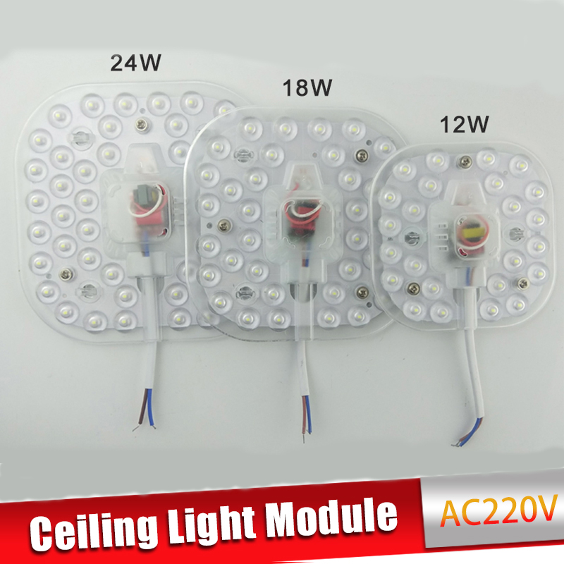 Ceiling Lamps LED Module AC220V 230V 240V 12W 18W 24W LED Light Replace Ceiling Lamp Lighting Source Convenient Installation