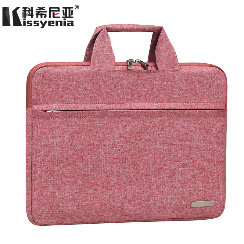 Kissyenia 13 14 Inch Laptop Briefcase Men Waterproof Formal Business Bag For Computer Capacity Handle Bags Sleeve Bags KS1363