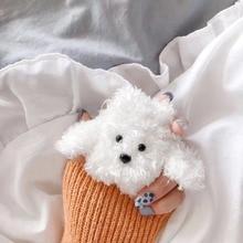 Plush AirPods Case – Cute Fluffy Teddy Dog
