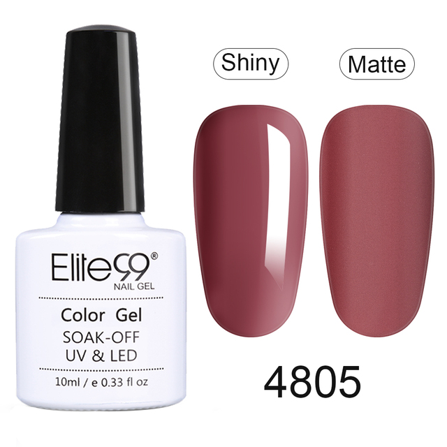 Elite99 10ml Ziegel Rot Farbe UV Gel Nagellack Soak Off Primer Für Nägel Gel Lack Semi Permanent Nagel art Design Gel Lack