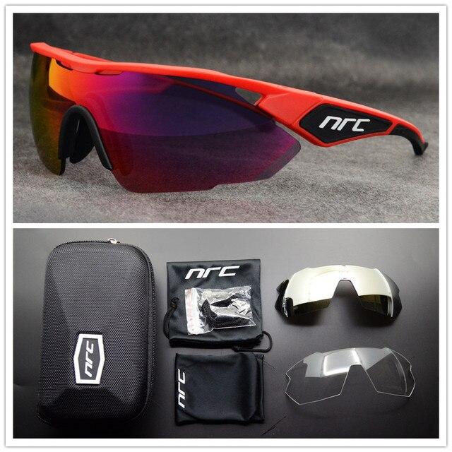 Nrc marca superior ciclismo óculos de bicicleta dos homens uv400 ciclismo óculos de sol gafas tr90 mtb estrada esportes óculos de sol 5