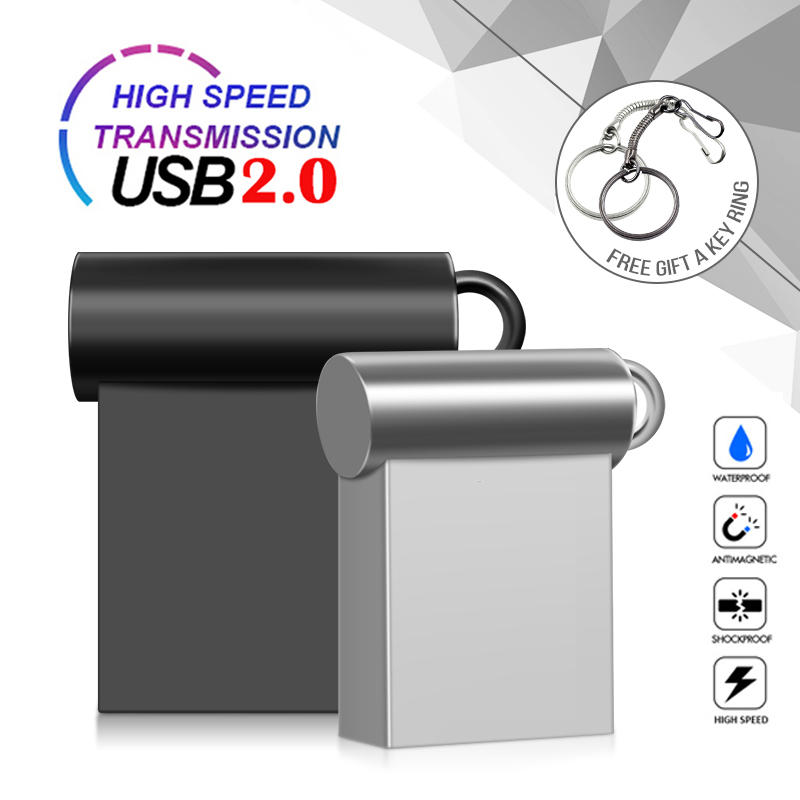 New Super Mini Metal Usb Flash Drive 4G 8G 16G Pen Drive 32GB High Speed Memory Stick U Disk 64G Pendrive 128G 256GB Memoria Usb
