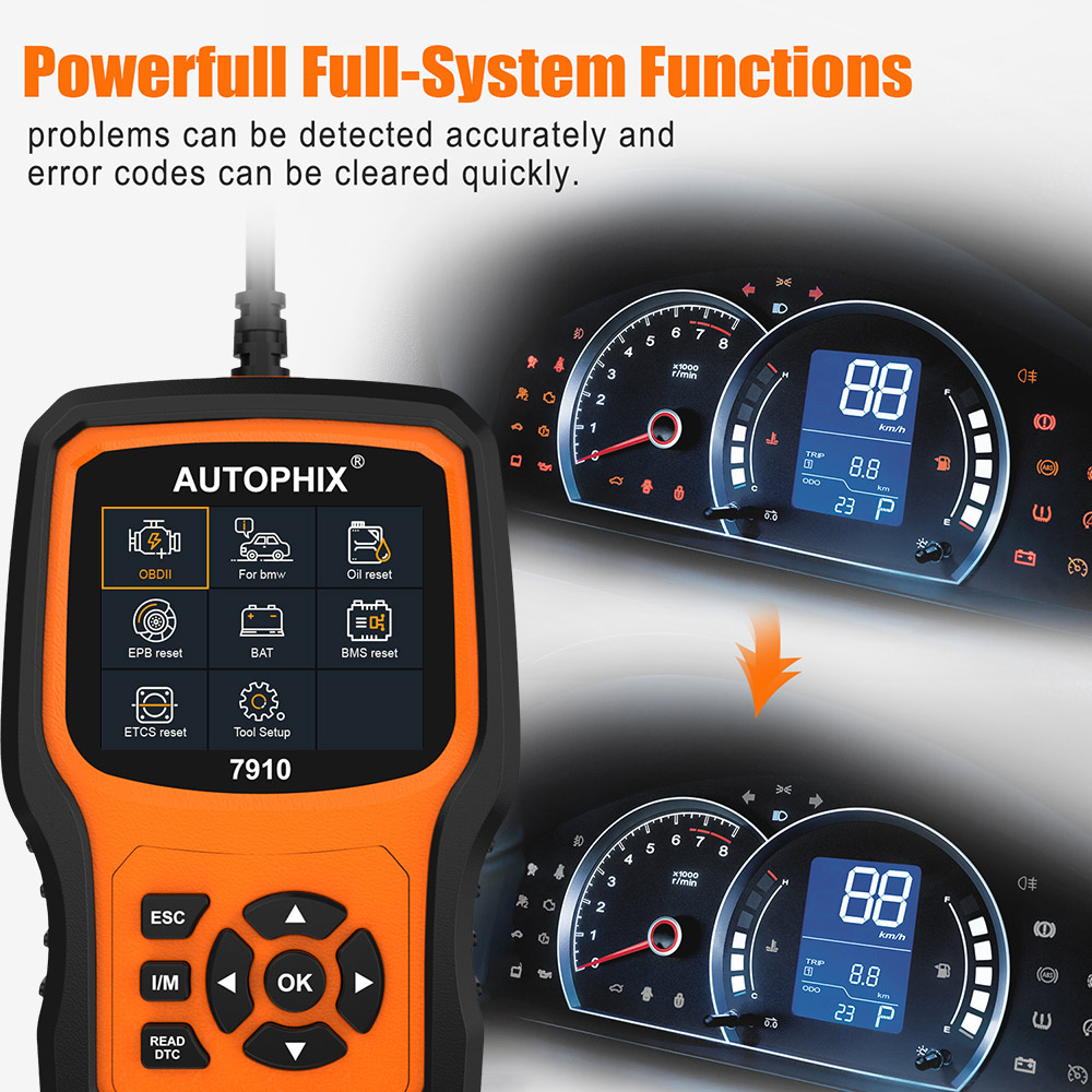 Image 3 - Autophix 7910 For BMW OBD2 Automotive Scanner SRS SAS ABS EPB Oil Reset For BMW OBD2 Scanner For Rolls Royce OBD Diagnostic Tool-in Engine Analyzer from Automobiles & Motorcycles on