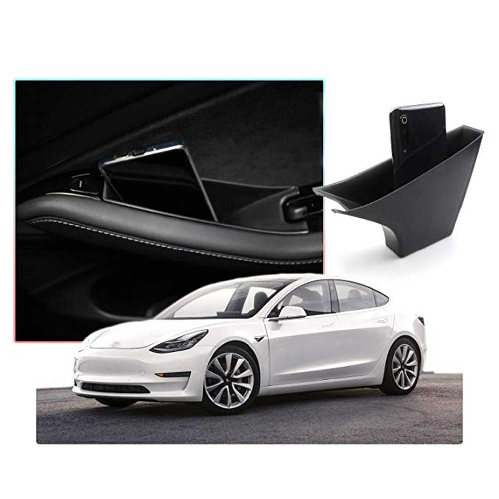 Achter Opbergdoos Deur Lade Pocket Voor Tesla Model 3 2017-2019 Accessoires Set