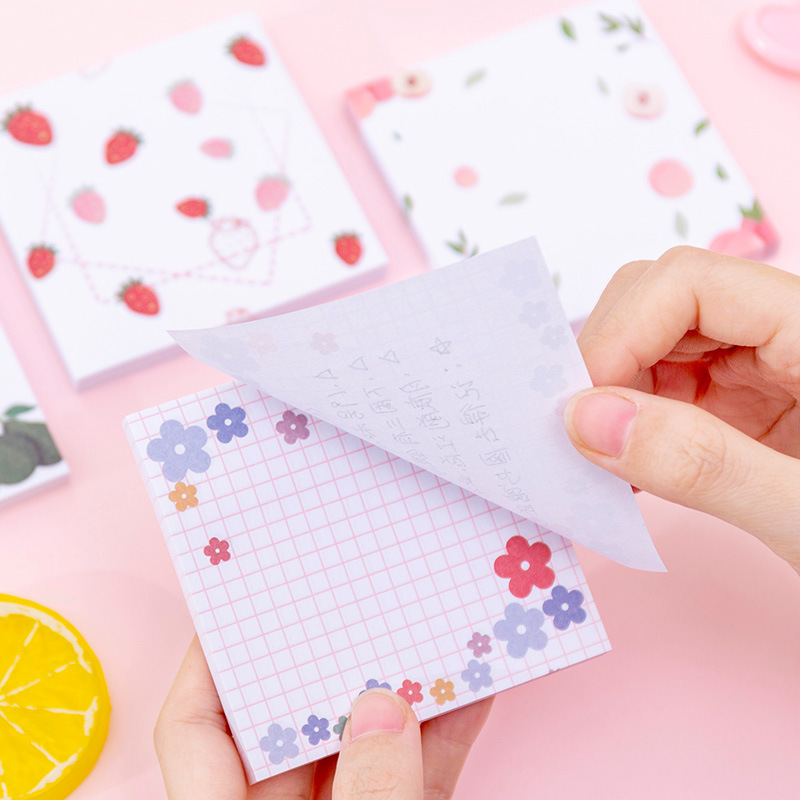 Korean Adhesive Block Memo Pad Planner Sticky Notes Paper Sticker Notepad Kawaii Stationery Office Accessory School Supplies Bts