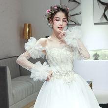 Новинка свадебные перчатки 50 см длинные элегантные с бусинами