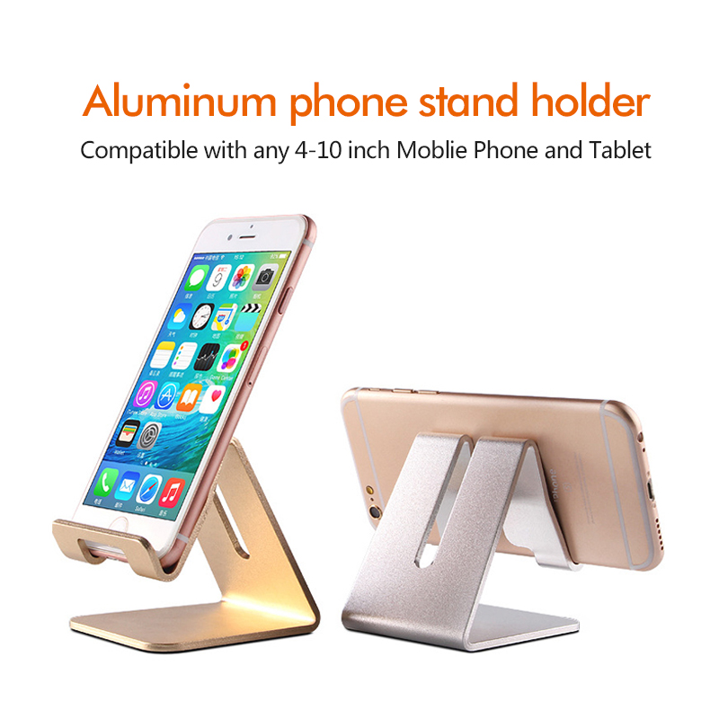 Mobile Phone Holders And Tablet Support Stand Bracket Aluminum Alloy Metal Triangle Table Display Universal For All Smartphone