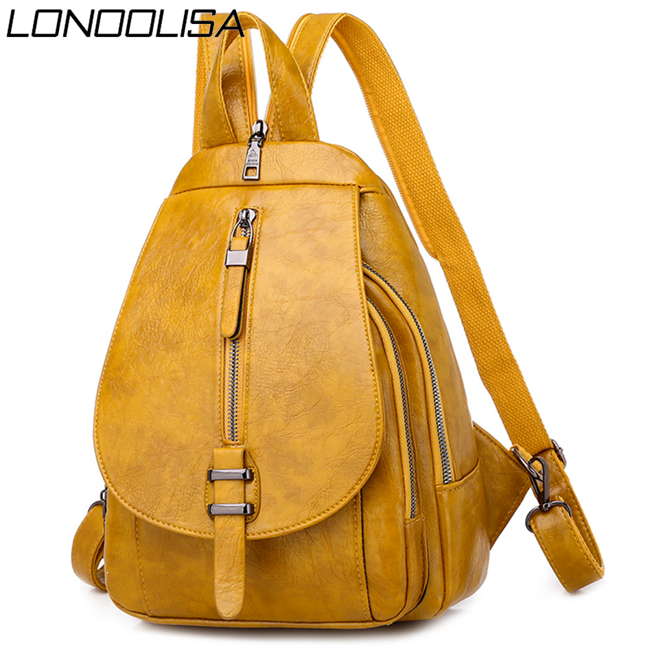 2020 Summer Style Women Backpack Mochila Feminina Bagpack School Bags For Teenager Girls Luxury Soft Leather Travel Backpack Sac