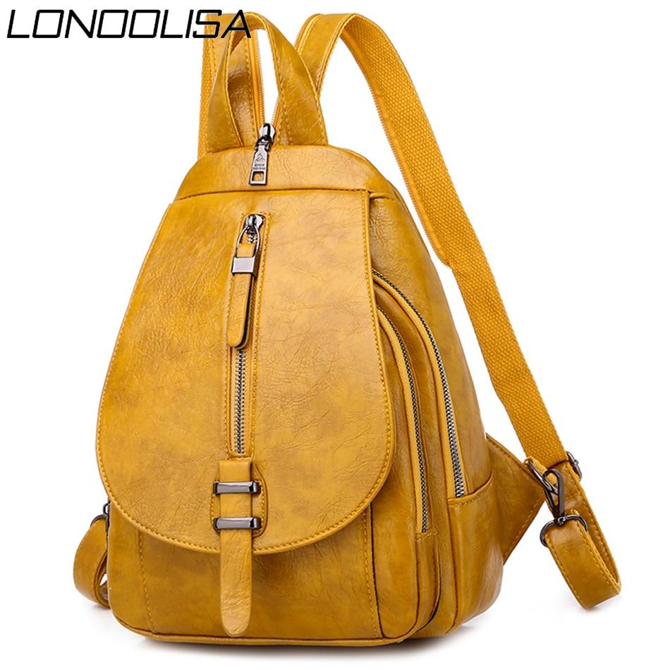 2020 Summer Style Women Backpack Mochila Feminina Bagpack School Bags For Teenager Girls Luxury Soft Leather Travel Backpack Sac