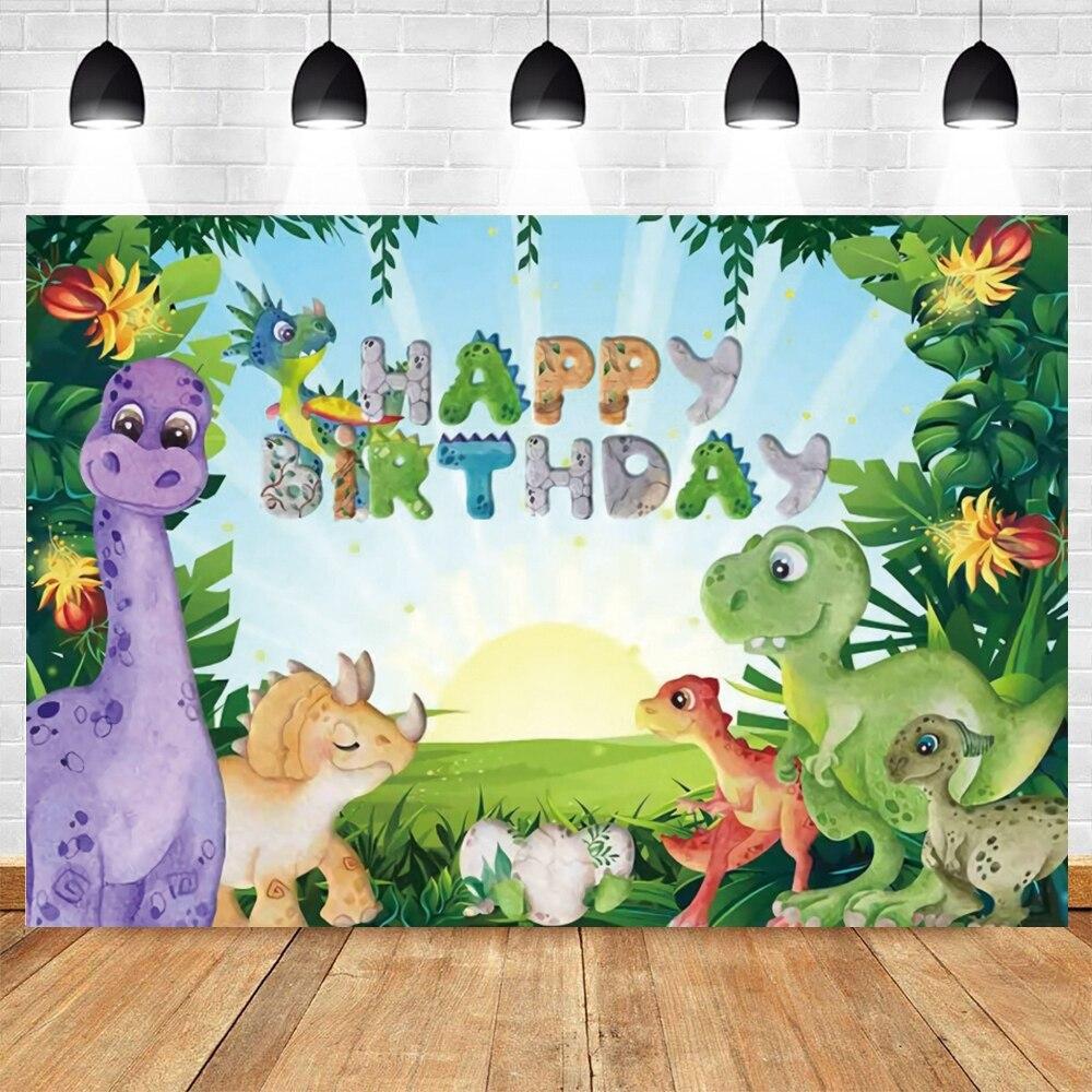 Yeele Dinosaur Jungle Forest  Animal Safari Party Newborn Baby Shower Birthday Backdrop Photography Background for Photo Studio