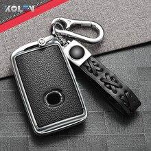 ТПУ + ПУ чехол ключа дистанционного управления автомобилем чехол оболочка Fob для Mazda 3 Alexa CX4 CX5 CX-5 CX8 CX-30 CX30 2019 2020 стайлинга автомобилей авто акс...
