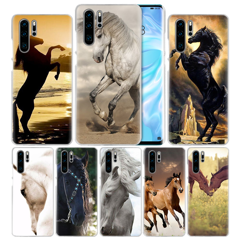 Horse Animal Case For Huawei Mate 30 20 10 P20 P30 Lite Pro P Smart Y9 Prime 2019 Honor 8A 8X 10i PC Phone Cover Bags