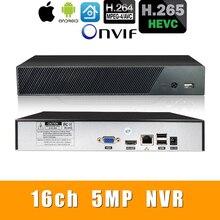 H.265 +/H.264 16CH * 5.0MP NVR Mạng Vidoe Đầu Ghi phân tích Thông Minh 1080P/720P Camera IP với cáp SATA ONVIF CMS XMEYE