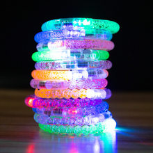 Led Dance Bangle Cartoon Watch Boys Girls Flash Wrist Band Light Bracelets for Birthday Halloween Glowing Party Supplies(China)