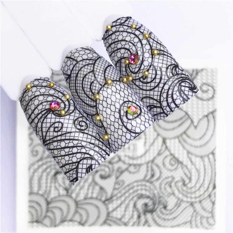 1 pièces mode dentelle filet bricolage Nail Art faux ongles conseils Nature clair ventilateur doigt Nail Art affichage pratique acrylique UV Gel vernis T