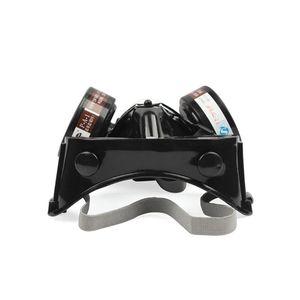 Image 5 - 2in1 الصناعية الغبار قناع مكافحة الغبار مكافحة السموم حملق عيون الأنف الفم حماية التنفس قناع واقي من الغاز السلامة الكيميائية أقنعة