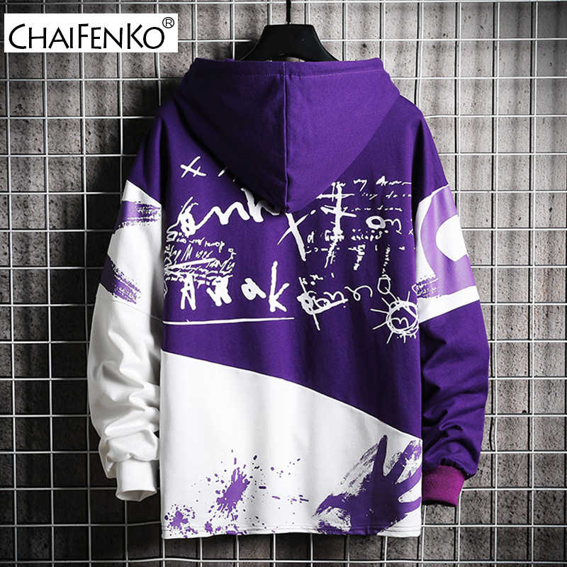 CHAIFENKO Hip Hop Khoác Hoodie Nam 2020 Thời Trang Thu Ván Trượt Cổ Áo Nam Nhật Bản Harajuku Dạo Phố Nam Hoodie