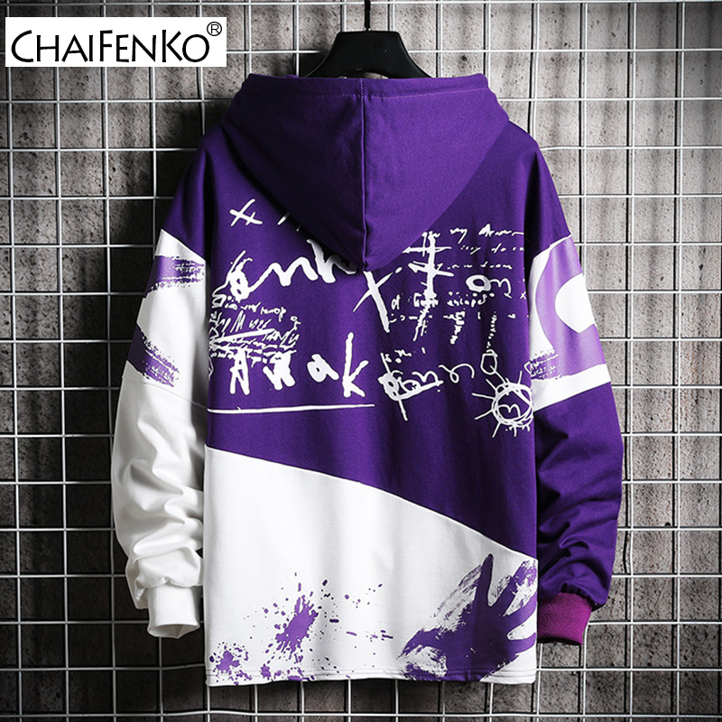 CHAIFENKO Hip Hop Hoodies Men 2020 New Autumn Fashion Skateboards Casual Sweatshirt Male Japanese Harajuku Streetwear Men Hoodie